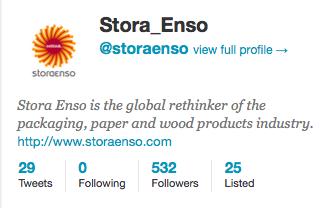 Stora Enso twitter